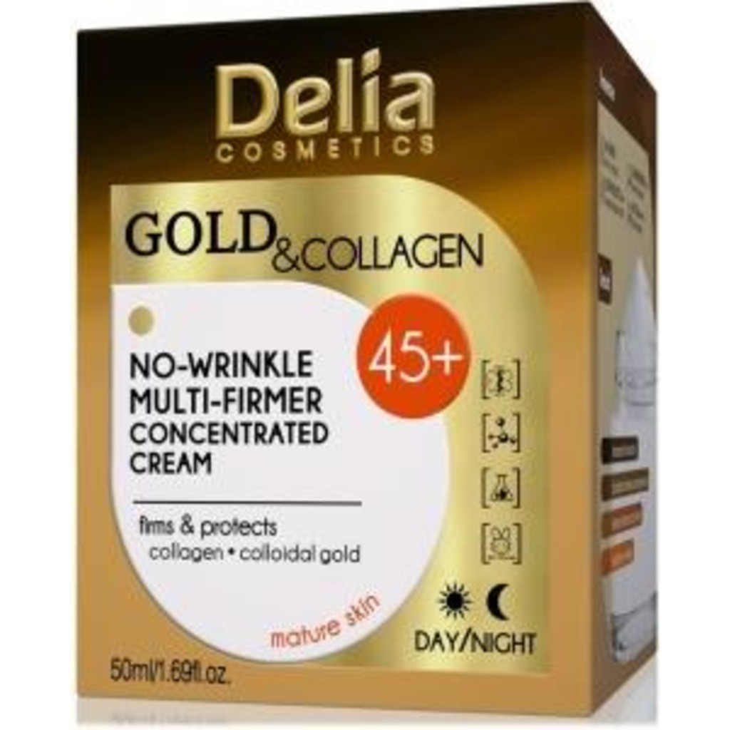 DELIA GOLD & COLLAGEN NO-WRINKLE CREAM 45+ DAY-NIG