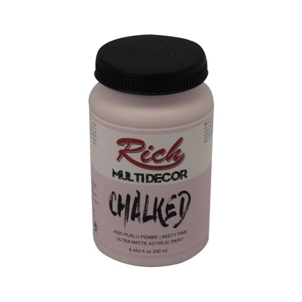 Rich Multi Decor Chalked Akrilik 250ml N:4520 Puslu Pembe